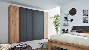 interliving schlafzimmer serie 1020 kleiderschrank wildeiche schiefergrau sechs türen breite ca 299 cm