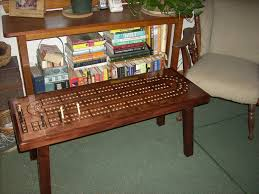 CRIBBAGE TABLE Cribbage Board Coffee Table Mahogany Minwax