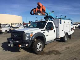 100 Ford Bucket Truck 2011 F550 Single Axle Boom Automatic With