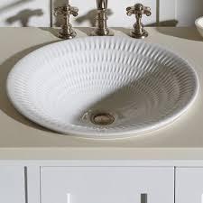 Kohler Overmount Bathroom Sinks by Kohler Derring Carillon Wading Ceramic Circular Drop In Bathroom