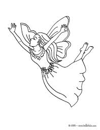 Fairy In The Wood Flying Coloring Page