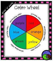Print Paint Color Wheel Template Primary Secondary Colors