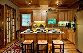 log cabin kitchen rustic kitchen nashville by leland