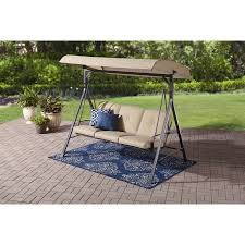 Mainstays Forest Hills 3 Seat Cushion Canopy Porch Swing Walmart