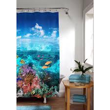 Under The Sea Peva Shower Curtain Blue Walmart