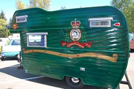 Beautifully Restored 1964 Aloha Cab Over Trailer With Beautiful Green Paint And Clover Queen Pub