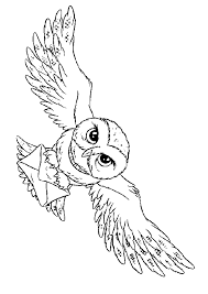 Owl Harry Potter Coloring Pages