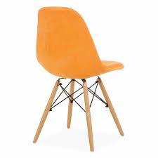 superstudio design stuhl wooden stoff orange küchen esszimmer polster