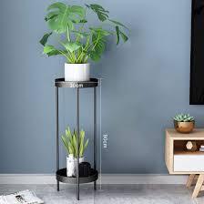schwarz kepae pflanzenregal metall blumenständer dekorativ