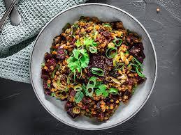 rote linsen salat mit roter bete