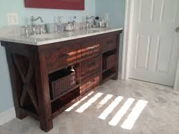 Pottery Barn Vanity With Classy Double Sink Undermount And Nice