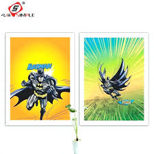 Superhero Comic Wall Decor by Marvel Heroes Wall Decals Buy Batman Wall Sticker Movie Poster
