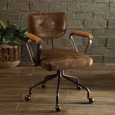 Shop Acme Furniture Hallie Top-grain Leather Office Chair - Free ...