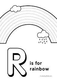 Letter R Coloring Pages Alphabet Words