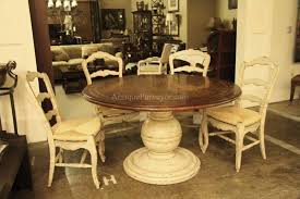 French Provincial Kitchen Chairs Country Oval Dining Table White Room Furniture Farm Style