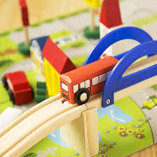 diy wooden toys railroad railway wooden train track set building