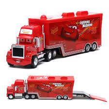 Disney Pixar Cars Mack & No.95 Lightning McQueen Truck 1 55 Diecast ...