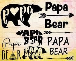 Papa Bear Mama Daddy Clipart