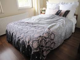 dusty Pink charcoal grey gray DAMASK print Full Queen KING