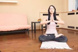 Woman Young Living Room Home Yoga Relax Pic