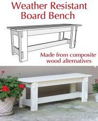 composite weather resistant bench azek miratek trex