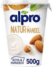 alpro soja joghurtalternative natur mit mandeln vegan