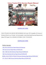 Volvo Trucks D12c Service Repair Manual By LouisaKerr - Issuu Fc Fj Jeep Service Manuals Original Reproductions Llc Yuma 1992 Toyota Pickup Truck Factory Service Manual Set Shop Repair New Cummins K19 Diesel Engine Troubleshooting And Chevrolet Tahoe Shopservice Manuals At Books4carscom Motors Hardback Tractors Waukesha Ford O Matic Manualspro On Chilton Repair Manual Mazda Manuals Gregorys Car Manual No 182 Mazda 323 Series 771980 Hc 1981 Man Bus 19972015 Workshop Quality Clymer Yamaha Raptor 700r M290 Books Dodge Fullsize V6 V8 Gas Turbodiesel Pickups 0916 Intertional Is 2012 Download