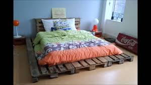 Pallet Bed Frame by 20 Brilliant Wooden Pallet Bed Frame Ideas For Your House Youtube