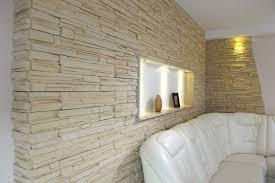 parement mural naturelle idee deco salon avec mur 2 parement avec