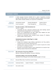 A Sample Resume For Executive Assistant CV