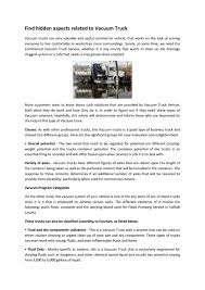 100 Used Vacuum Trucks The Best Flood Pumping Service In Suffolk County By All
