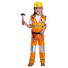 Halloween Little Tikes Construction Worker Toddler Costume 3t 4t ...