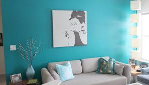 Best Turquoise Paint Color For Retro Style Living Room