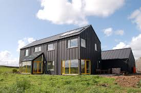 Farmhouse Houseplans Colors Single Color House With Color Popping Windows Black Zinc Sheeting