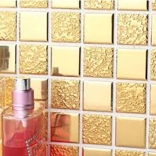 Mirror Tiles 12x12 Gold by 14 Mirrored Bathroom Wall Tiles Crystal Glass Tile Mosaic Glass