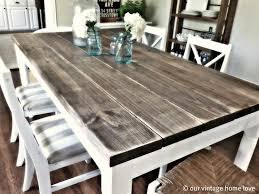 DIY Dining Room Table With 2x8 Boards 475 Each For 3100 From Lowes This Is The Coolest Website I Agree If You Love Pottery Barn But Cant Spend