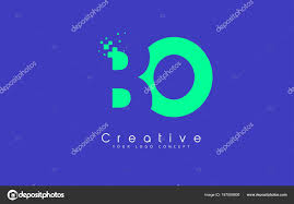 100 By Bo Design BO Letter Logo With Negative Space Concept Stock