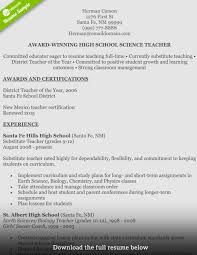 High School Biology Teacher Resume Samples Luxury How To Write A Perfect Teaching Examples Included