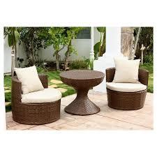 Abbysonn Living Manchester 3 Piece Outdoor Wicker Chair Set