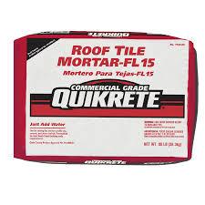 shop quikrete roof tile fl 15 80 lb gray type m mortar mix at