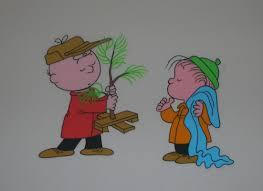Charlie Brown Christmas Tree Amazon by Original Cels Of Charlie Brown Linus Van Pelt And The Little