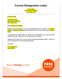 57 Best Notice Images On Two Week Notice Sle A Formal Weeks Resignation Letter Smart