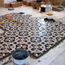 encaustic cement tile floor installation concretecottage