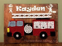 Fire Truck String Art Kids Room Decor   Craft Ideas- String & Nail ... Bedroom Decor Ideas And Designs Fire Truck Fireman Triptych Red Vintage Fire Truck 54x24 Original 77 Top Rated Interior Paint Check More Boys Foxy Image Of Themed Baby Nursery Room Great Images Race Car Best Home Design Bunk Bed Gotofine Led Lighted Vanity Mirror Bedroom Decor August 2018 20 Amazing Kids With Racing Cars Models Other Epic Picture Blue Kid Firetruck Wall Decal Childrens Sticker Wallums