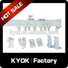 Ceiling Mount Curtain Track Bendable by Kyok Selling Round Flexible Curtain Rail Curtain Track Glider