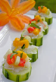 cucumber canapes helyn s plant based kitchen cucumber canapés with fresh melon salsa