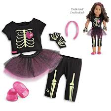 American Girl Truly Me Skeleton Outfit For 18u201d Dolls Halloween