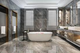 klassisches modernes badezimmer der 3d wiedergabe mit