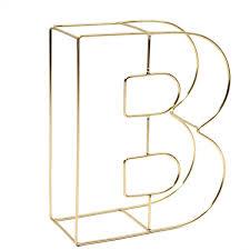 Soft Gold Wire Letter B 15Cm Hobbycraft