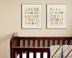 Modern Nursery Alphabet Wall Art Numerical Letters Words Decorations Simple Children Bedroom Kids